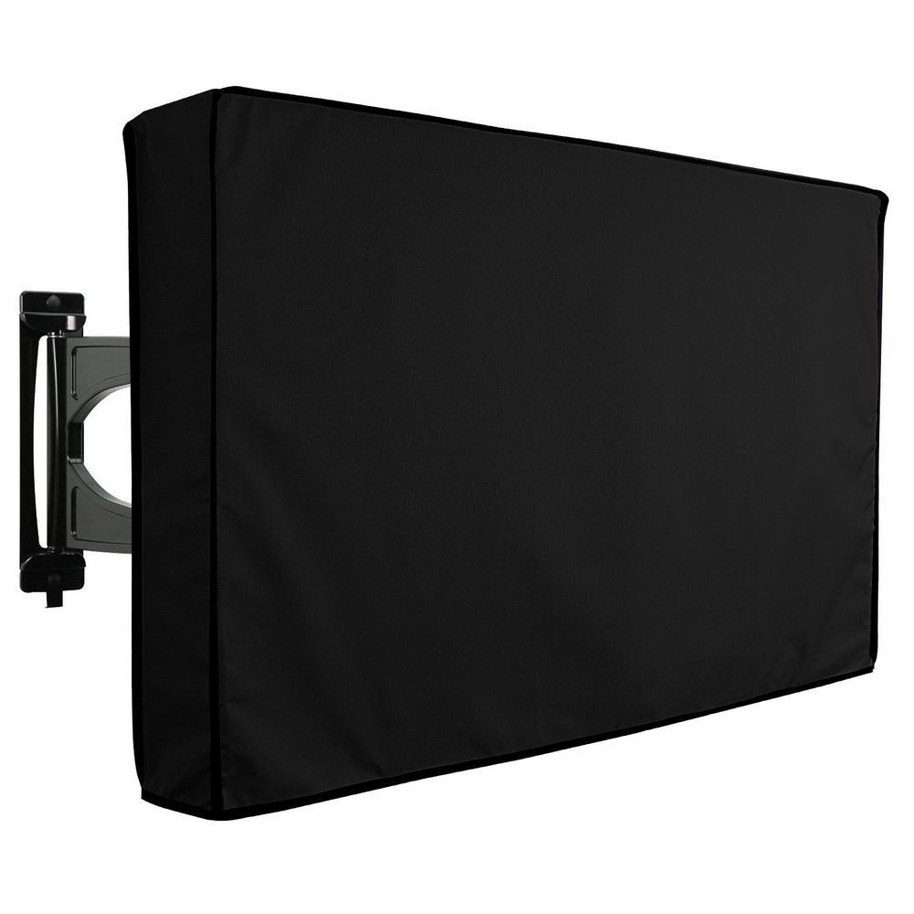 Black Outdoor TV Universal Weatherproof Protector Cover - KHOMO GEAR 36 In. - 38 In. Black Outdoor TV Universal Weatherproof
