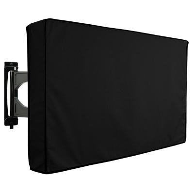 22 in. to 24 in. Black Outdoor TV Universal Weatherproof Protector Cover
