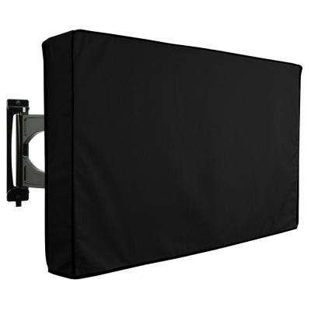 22 in. to 24 in. Black Outdoor TV Universal Weatherproof Protector Cover