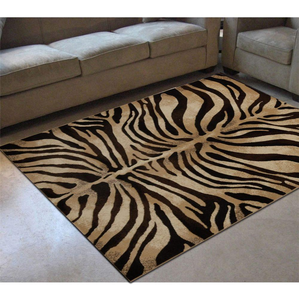 Home Dynamix Tribeca Black/Ivory 5 ft. 2 in. x 7 ft. 2 in. Indoor Area Rug