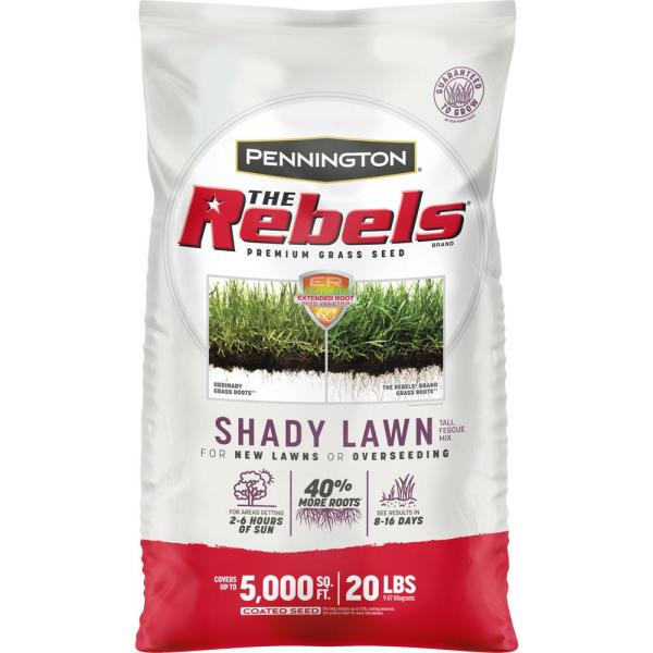 The Rebels 20 lbs. Shady Lawn Grass Seed Mix