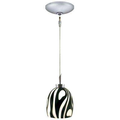 Low Voltage Quick Adapt 4-5/8 in. x 103-1/8 in. Black/White Pendant and Canopy Kit