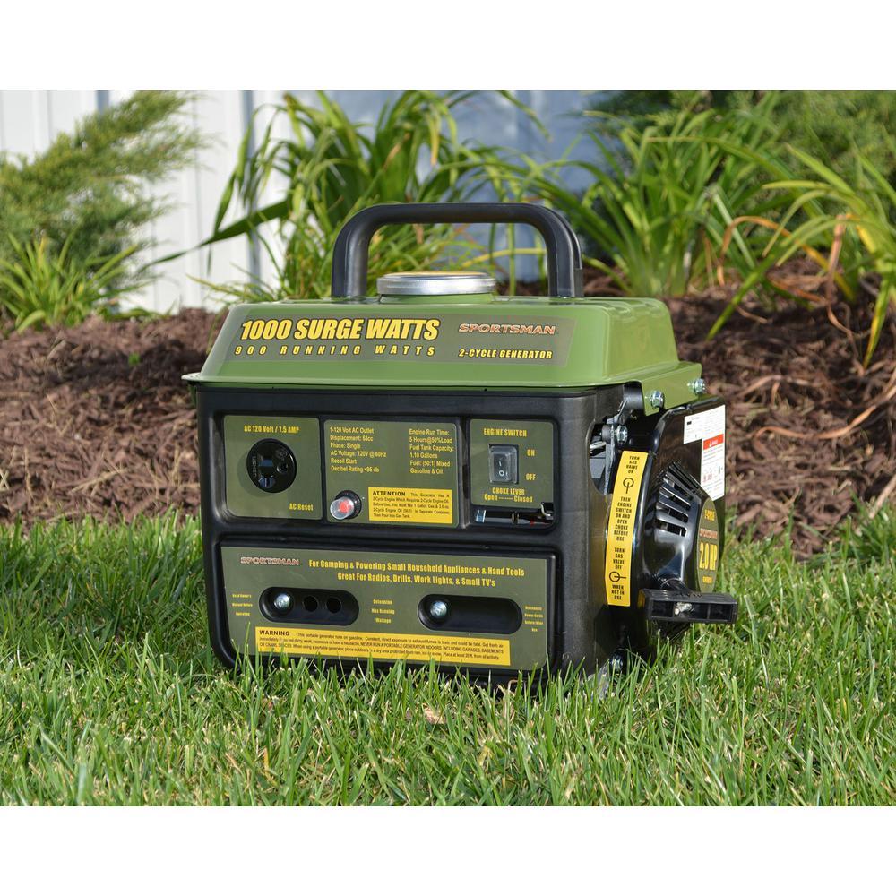 Sportsman 1000-W 2-Stroke Portable Gas Powered Generator Home Backup RV Camping