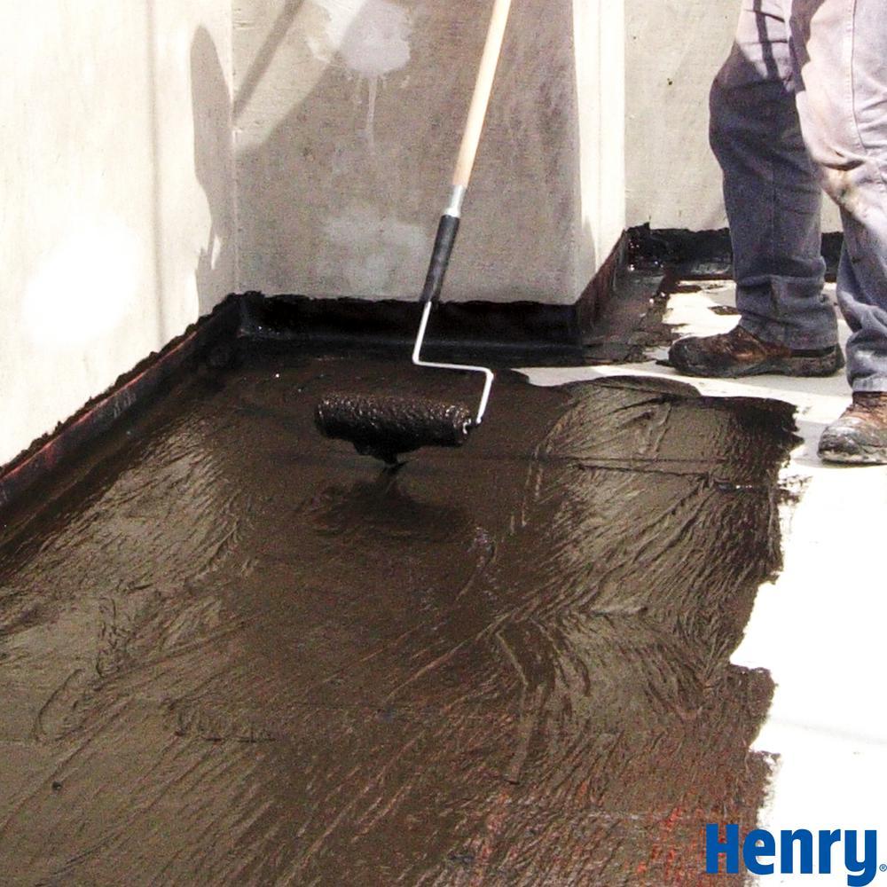 Henry Henry 201 Fibered Black Asphalt Roof Coating 4 75 Gallon He201571 The Home Depot