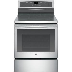 Click here to buy GE Profile 30 inch 5.3 cu. ft. Smart Induction Electric Range with Self-Cleaning Convection Oven and WiFi in Stainless Steel by GE Profile.