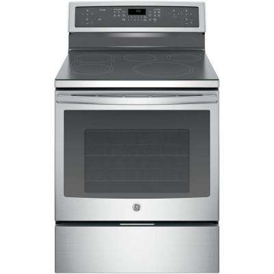 30 in. 5.3 cu. ft. Smart Induction Electric Range with Self-Cleaning Convection Oven and WiFi in Stainless Steel