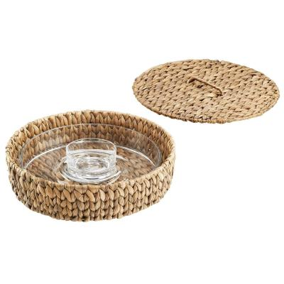 Garden Terrace 13.5 in. Chip and Dip Server with Container and Lid