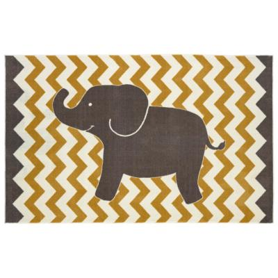Mohawk Home Lucky Elephant Yellow 7 ft. 6 in. x 10 ft. Area Rug