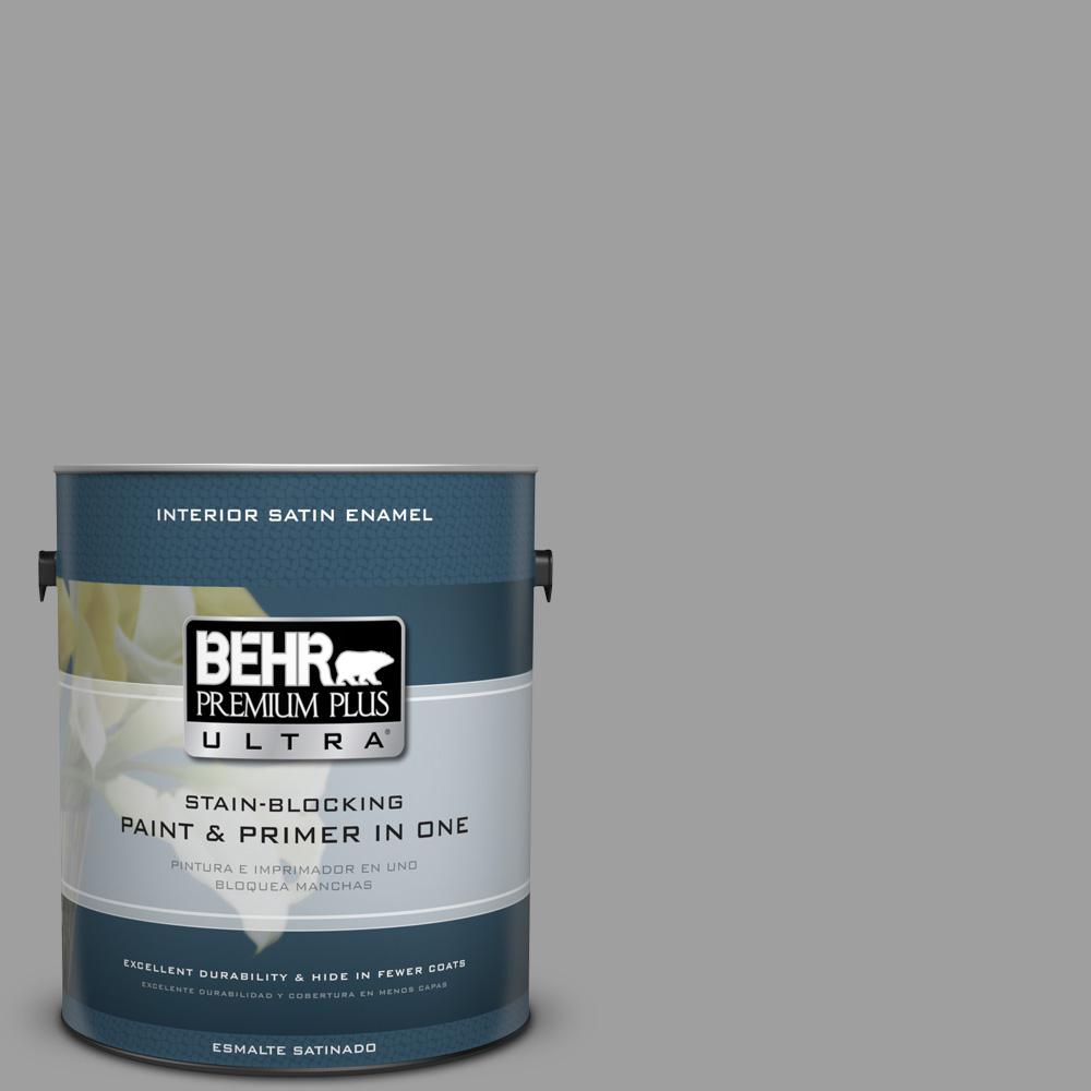 1 gal. #PPU26-06 Elemental Gray Satin Enamel Interior Paint