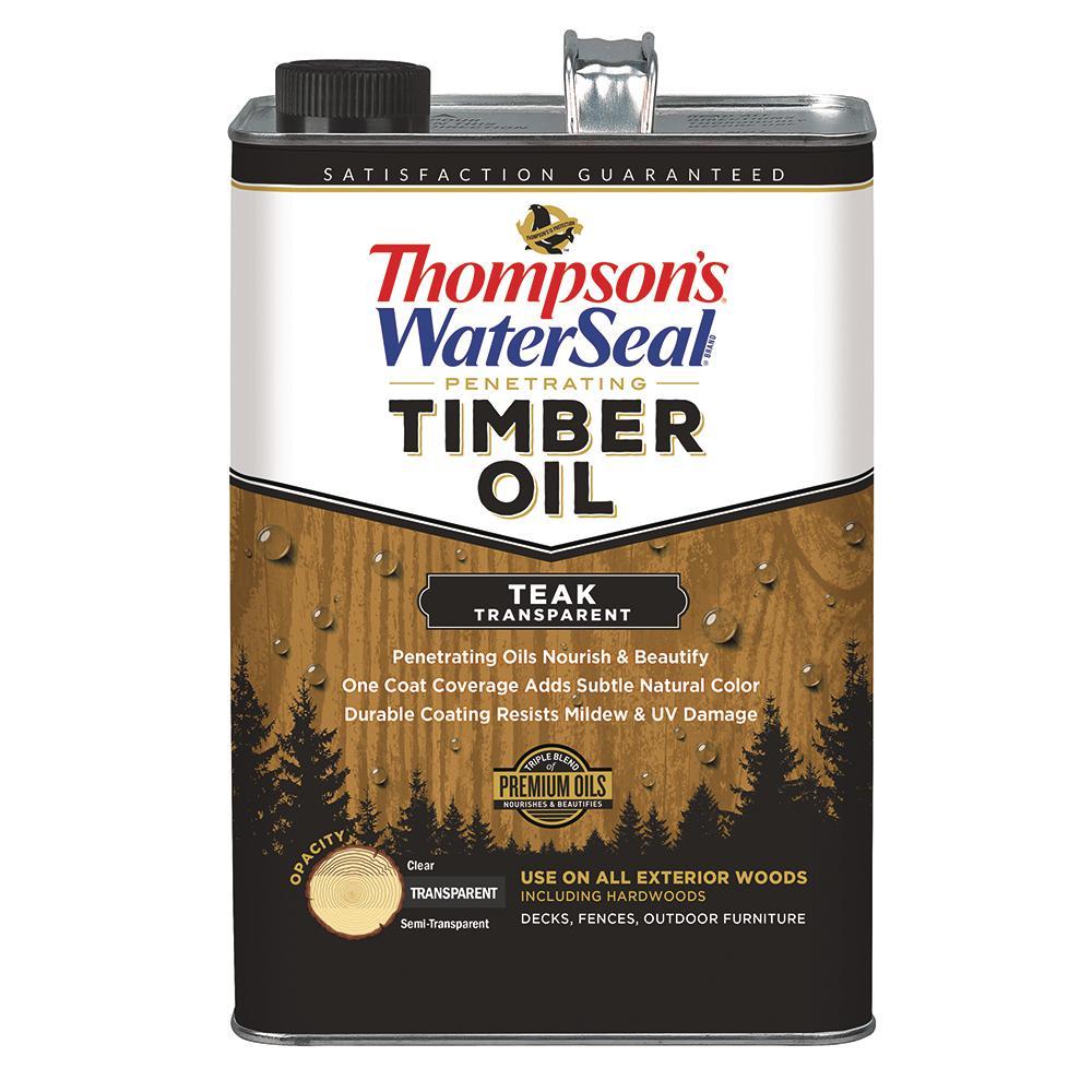 thompson s waterseal 1 gal transparent teak penetrating timber oil