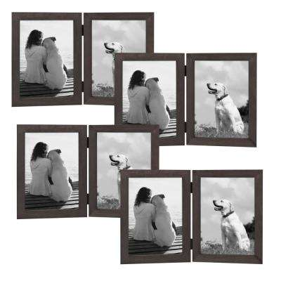 Gallery 2 Opening 5 in. x 7 in. Gray Picture Frame (Set of 4)