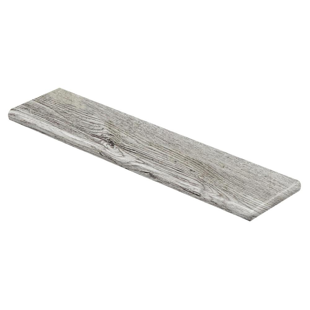 Cap A Tread Silver Cliff Oak/Lake Cottage Oak 94 in. L x 12-1/8 in. W x 1-11/16 in. T Laminate Right Return for Stairs 1 in. Thick