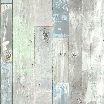 Ashwile Blue Wood Wallpaper