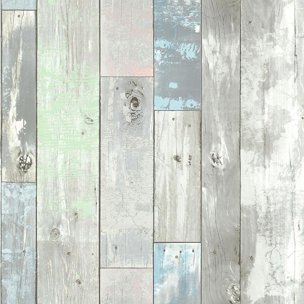 Brewster Ashwile Blue Wood Wallpaper 2686-20271
