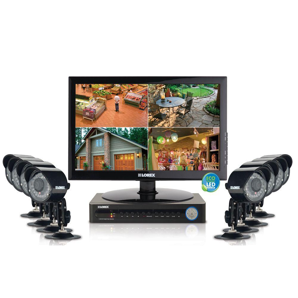 Lorex Eco 8 CH 500 GB Hard Drive Surveillance System with (8) 480 TVL Cameras and 19 in. Monitor-DISCONTINUED