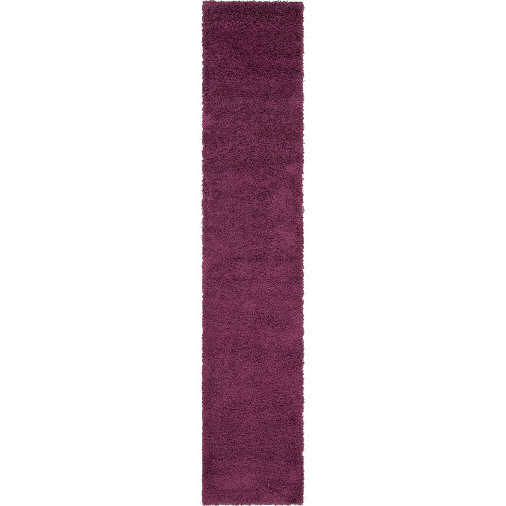 Unique Loom Solid Shag Eggplant Purple
