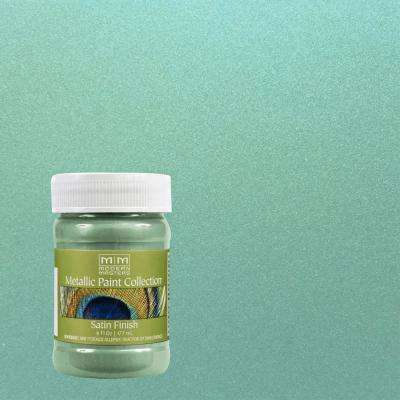 6 oz. Teal Water-Based Satin Metallic Interior Paint