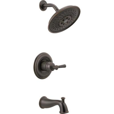 Mylan Single-Handle 3-Spray Tub and Shower Faucet with H2Okinetic in Venetian Bronze