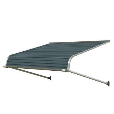 4 ft. 1100 Series Door Canopy Aluminum Awning (12 in. H x 42 in. D) in Slate Blue