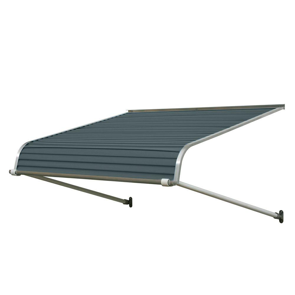 NuImage Awnings 3 ft. 1100 Series Door Canopy Aluminum Awning (12 in. H x 42 in. D) in Slate Blue