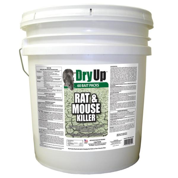 15 lbs. Dry Up Rat and Mouse Killer Pellets (4 oz. 60-Pack)