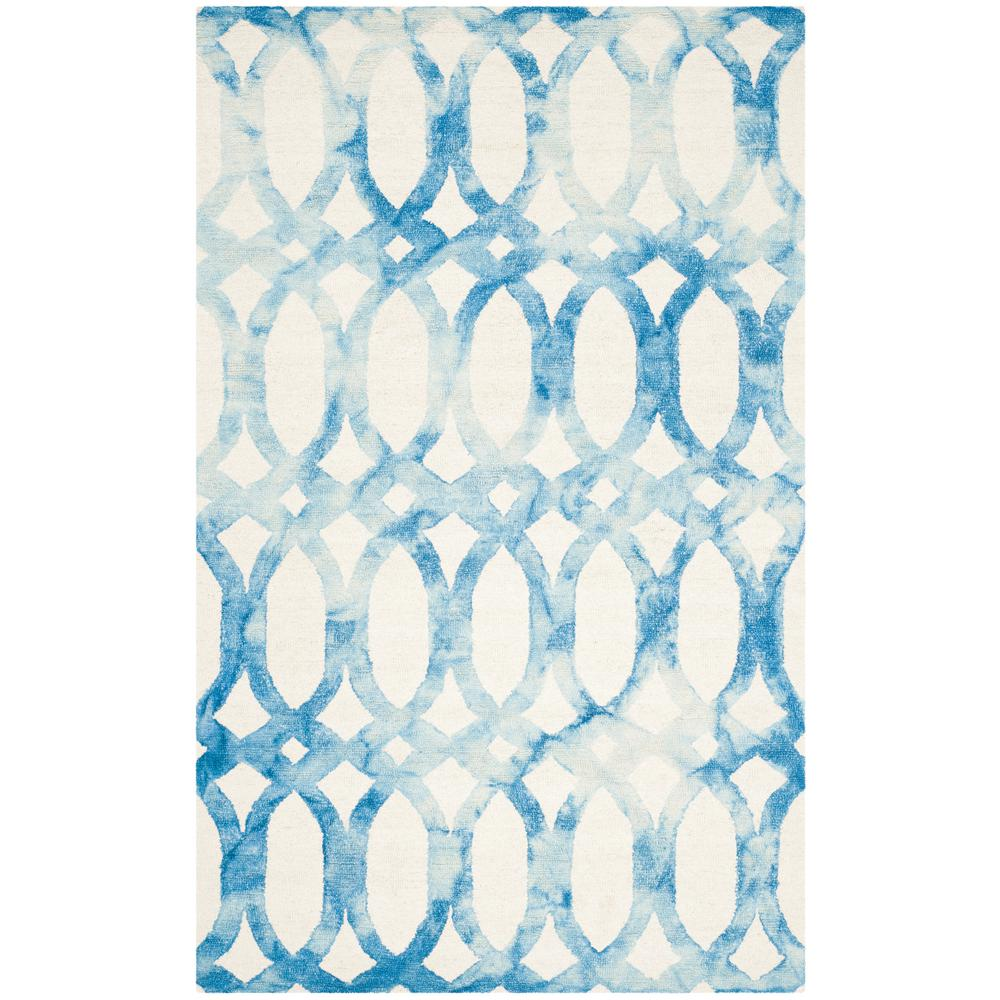 Dip Dye Ivory/Blue 5 ft. x 8 ft. Area Rug