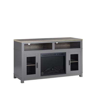Viola Gray 60 in. TV Stand with Fireplace