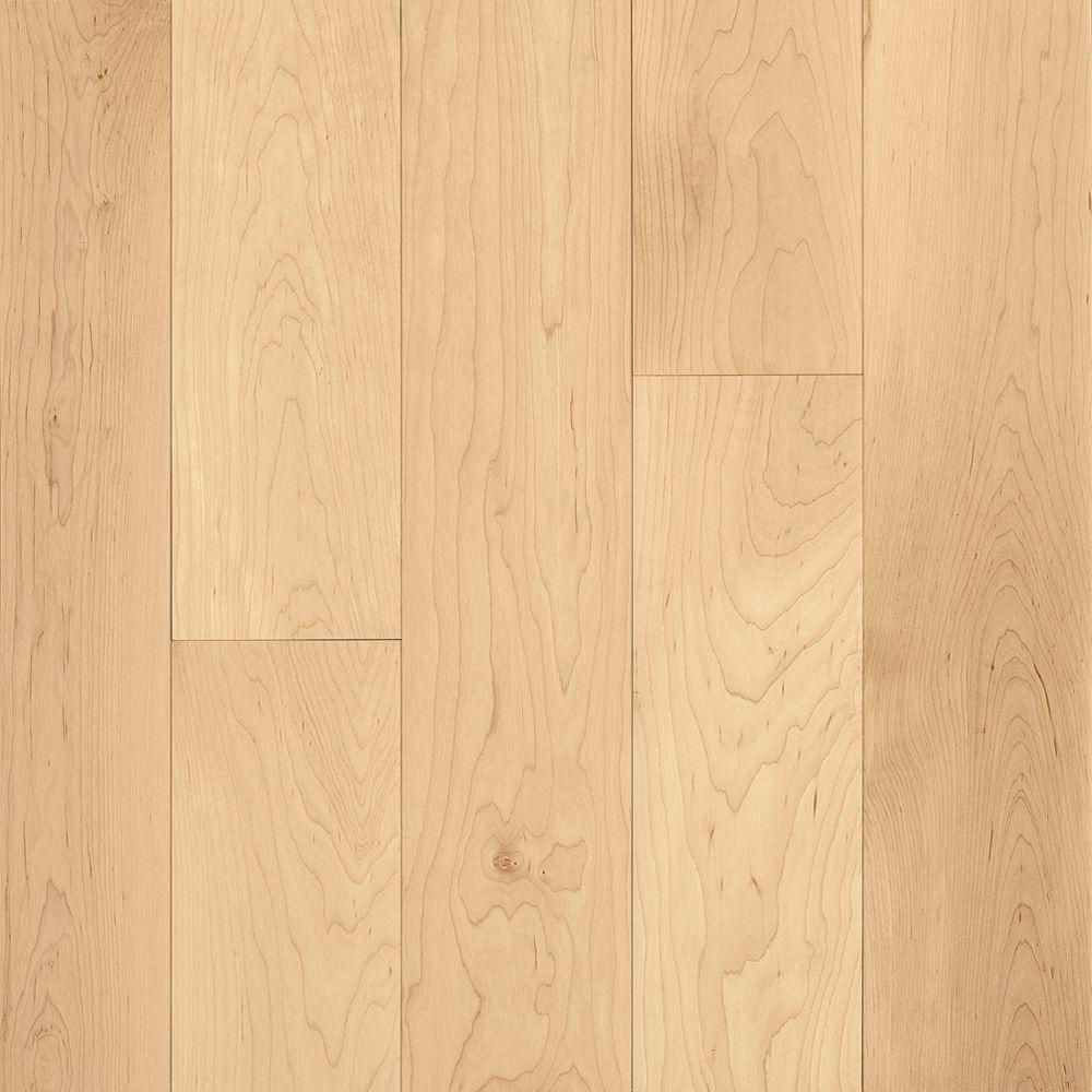 Bruce Natural Maple 3 4 In Thick X 2 1 Wide Random Length Solid Hardwood Flooring 20 Sq Ft Case Ahs4010 The Home Depot