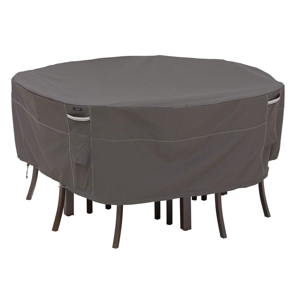 Classic Accessories Ravenna Medium Round Patio Table and Chair Set Cover