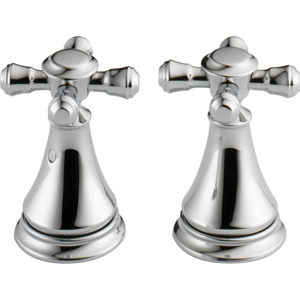 Delta Pair of Cassidy Metal Cross Handles for Bathroom Faucet in ...