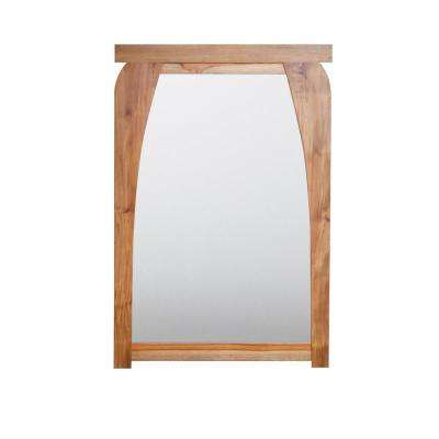 Tranquility 24 in. L x 35 in. H Single Solid Teak Framed Mirror in Natural Teak