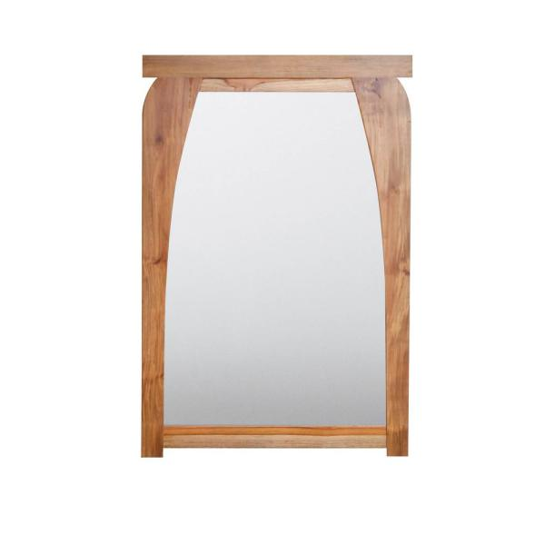 Tranquility 24 in. W x 35 in. H Framed Rectangular Beveled Edge Bathroom Vanity Mirror in Natural