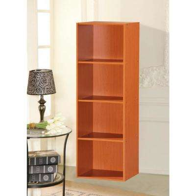 4-Shelf, 47 in. H Cherry Bookcase
