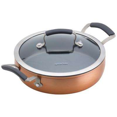 3 Qt. Copper Translucent Aluminum Sauteuse with Lid