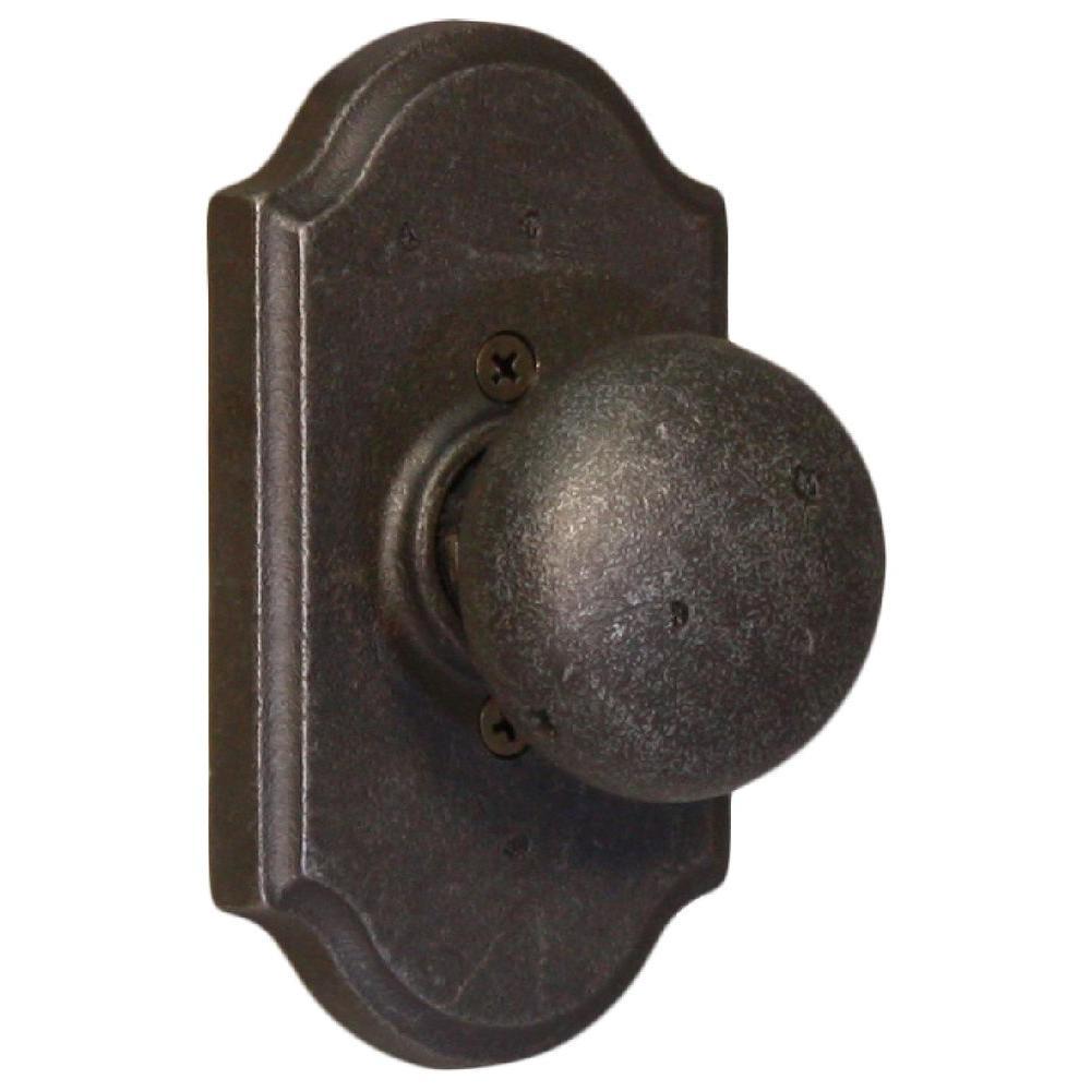 Weslock Molten Bronze Weathered Pewter Premiere Half-Dummy Wexford Knob-DISCONTINUED