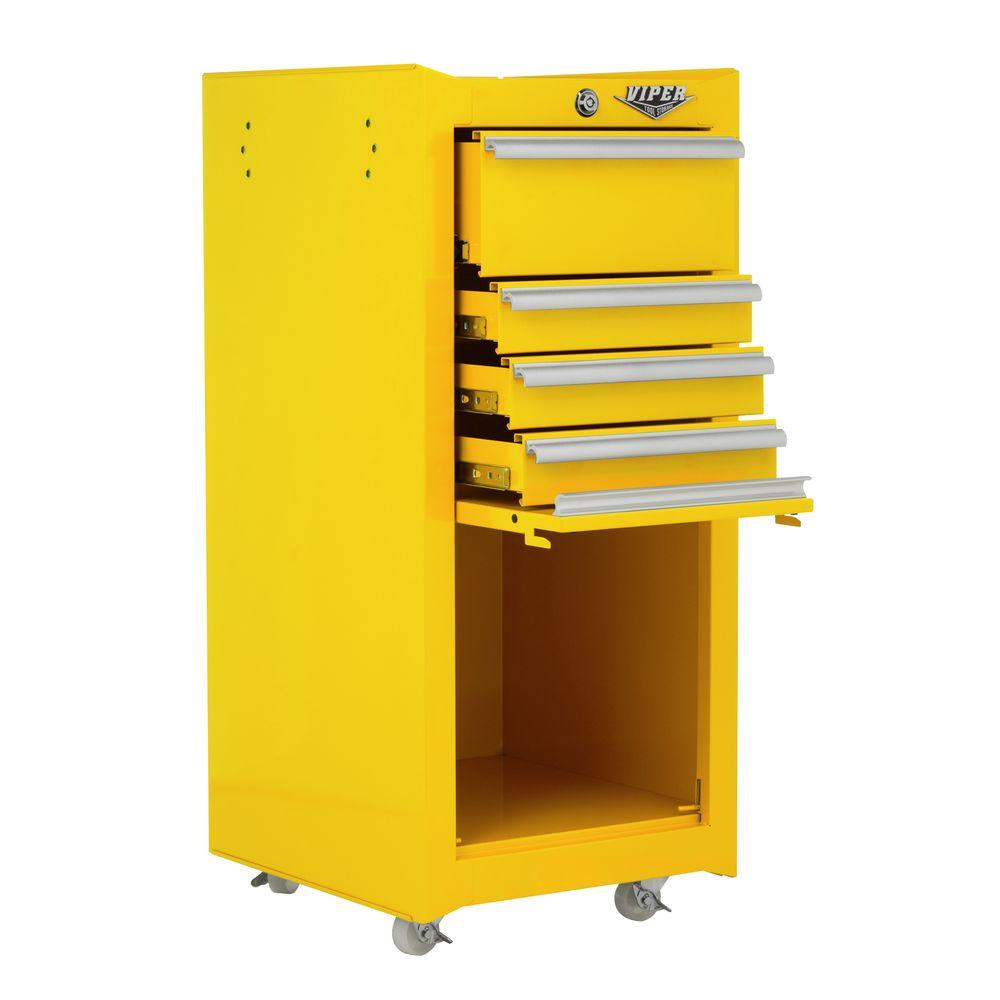 Viper Tool Storage 16 in. 4 Drawer Tool/Salon Cart in Yellow