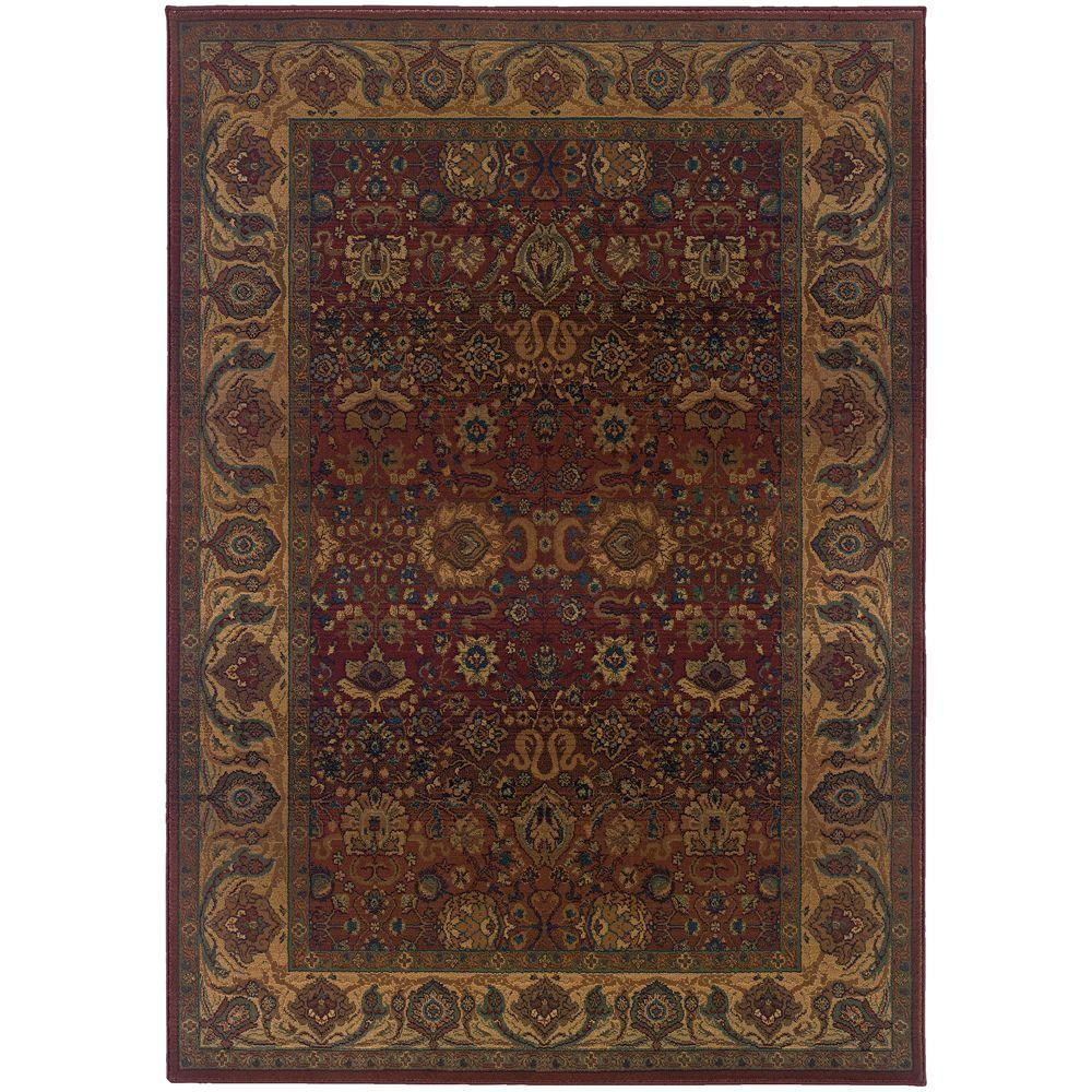 Exhilaration Burgundy 5 ft. 3 in. x 7 ft. 6 in.