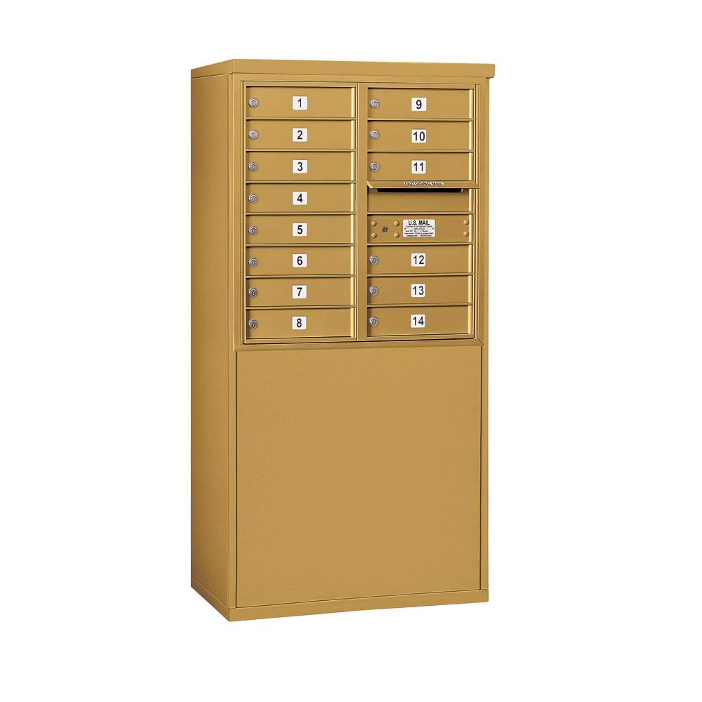 Salsbury Industries 3900 Horizontal Series 14-Compartment Free Standing Mailbox