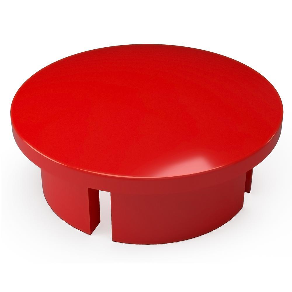 1/2 in. Furniture Grade PVC Internal Dome Cap in Red (10-Pack)