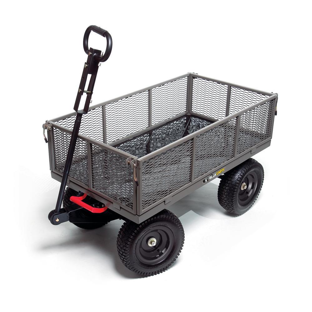 Gorilla Carts 1,200 lb. Steel Multi-Use Dump Cart