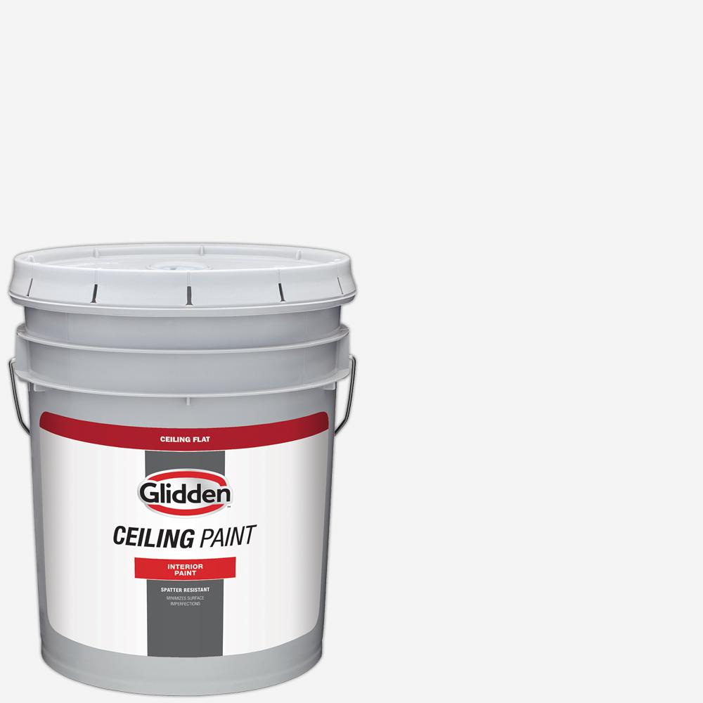 Glidden Ceiling 5 gal. White Flat Interior Ceiling Paint