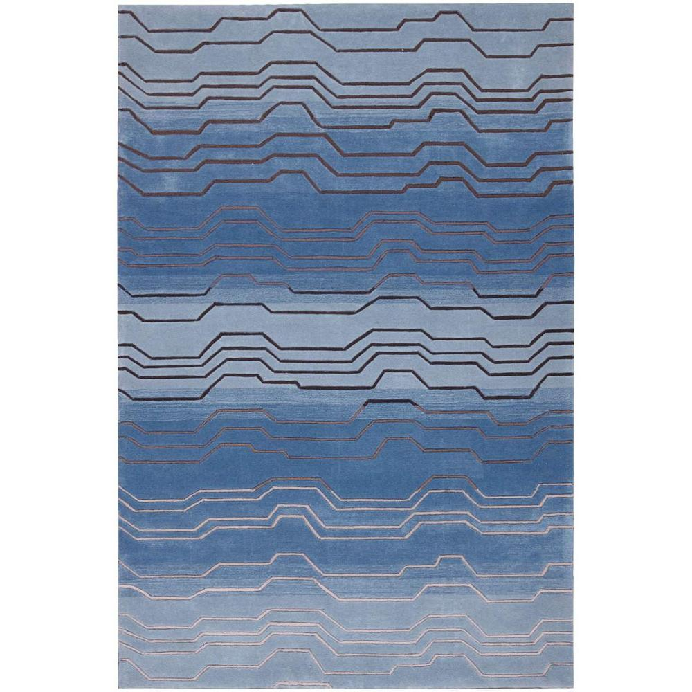 Nourison Overstock Contour Azure 3 ft. 6 in. x 5 ft. 6 in. Area Rug