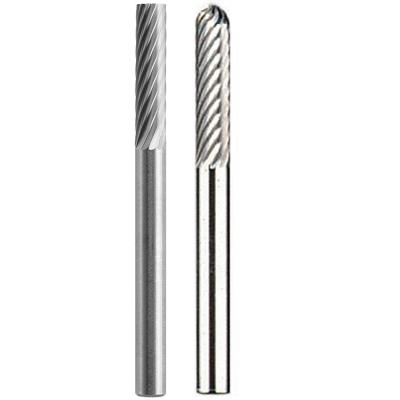 1/8 in. Rotary Tool Rectangle-Shaped & Spear-Shaped Tungsten Carbide for Steel,Stainless Steel,Iron,Ceramics & Hard Wood