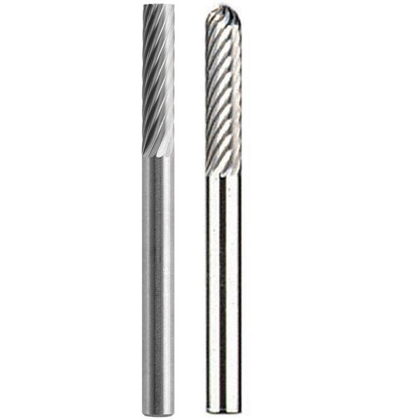 20 x Tungsten Carbide Rotary Tools Bits 1//8/'/' Shank Edge For Cutting Deburring