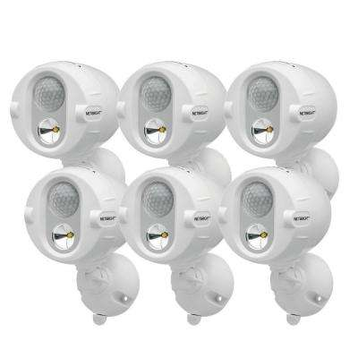 Networked Wireless Motion Sensing Outdoor LED Spot Light System with NetBright Technology, 200-Lumens (6-Pack)