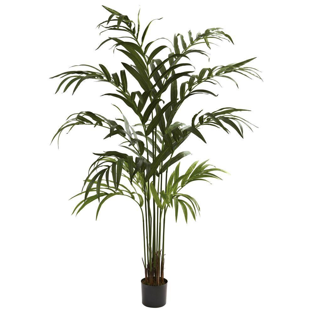 Nearly Natural 6 Ft Kentia Palm Tree 5356 The Home Depot