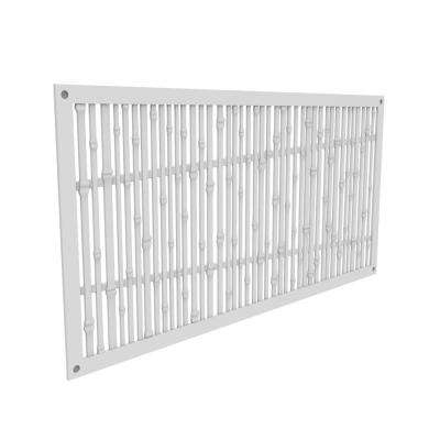 4 ft. x 2 ft. Bungalow White Polymer Decorative Screen Panel