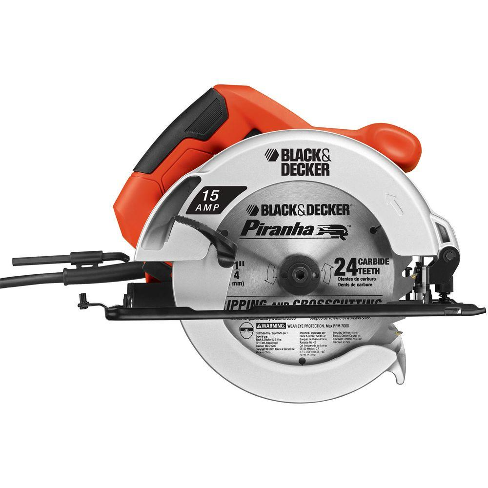 Blackdecker 15 amp 7 14 in circular saw cs1015 the home depot greentooth Choice Image