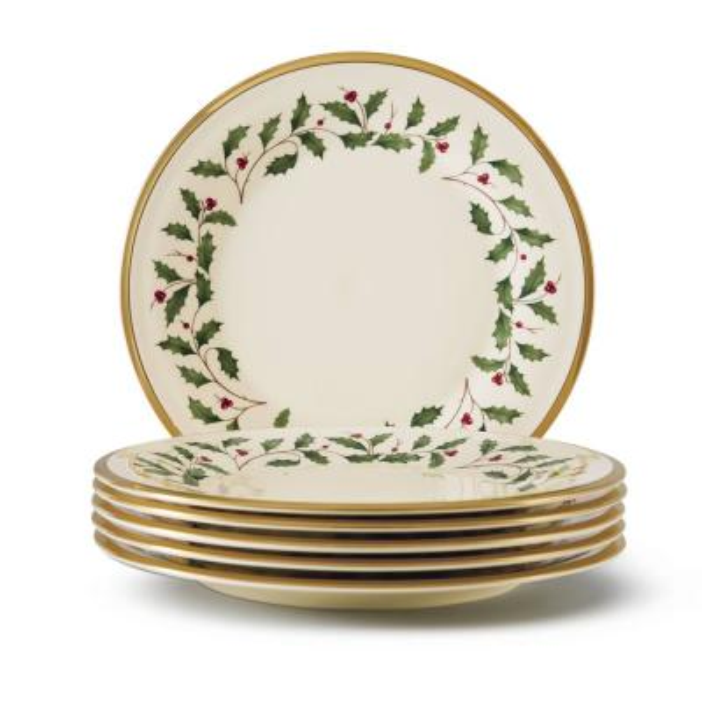 Holiday Bone China Salad Plate (Set of 6)