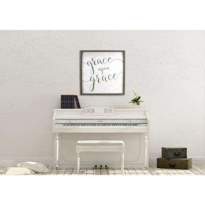 """26.5 In. H x 26.5 In. W """"Grace Upon Grace"""" by JLB Framed Printed Wall Art"""